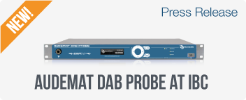 Audemat monitoring compatible with DAB, DAB+ and DMB applications